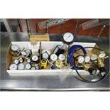 Large Lot of misc. Pressure Gauges, Hydraulic Tester, GP Liquid Flow Switch