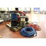 """Entire Pallet of 3/8"""" Black and Blue 300PSI Air or Water Hose, Two rolls of 3,000 PSI Hydraulic Hose"""