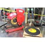 "(1) Milwaukee 14"" Chop Saw / Box of (9) New Dewalt 14"" Abrasive Wheels"