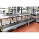 """(2) Stainless Steel Shop Tables with Backsplash 30"""" x 34"""" x 72"""""""