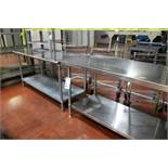 """(2) Stainless Steel Work Tables 30"""" x 60"""" x 36"""""""