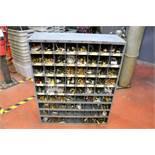 "Large Metal Storage Bin 12"" x 34"" x 42"" - 72 bins full of Various Water and Air Fittings"