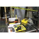 (1) 10 lb. Sledge Hammer / (1) Handsaw w/ Miter Box / (1) Rubber Mallet / (1) 1 Gallon Paint Mixer /