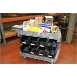 Lean Manufacturing Plant Labeling Rolling Cart