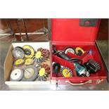 (1) Makita Grinder/Sander w/ various Wire Wheels and Discs