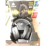 Corsair - HS70 Wireless Surround Sound 7.1 Gaming Headset - Tested Working for Sound & Boxed.