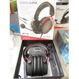 Hyper x - Cloud Alpha pro Gaming Headset - Tested Working for Sound & Boxed.