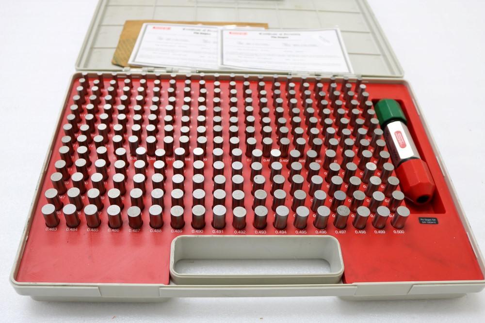 """Lot 26 - SPI Class 22 Pin Gage Sets, M0 Plus 0.011-0.060"""", M1 Plus 0.061-0.250"""", M2 Plus 0.251-0.500"""""""