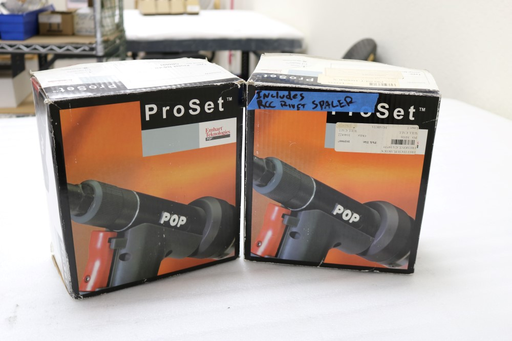 (2) Proset Pop Pneumatic Riveter Model 1600MCS