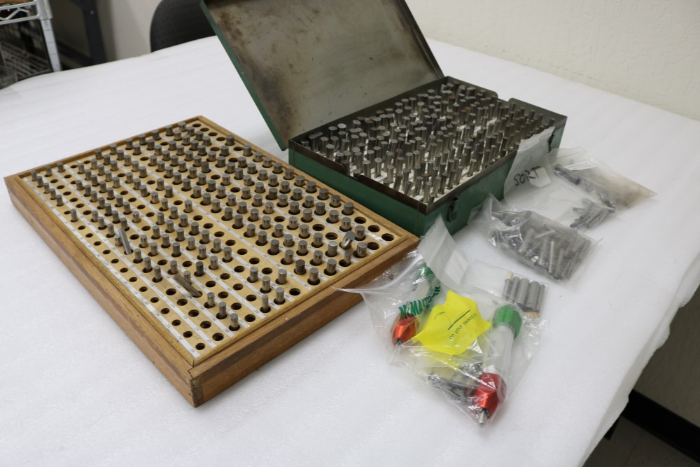 Lot 29 - (2) Boxes of Various Size Pin Gages and Meyer Pin Gage Holders