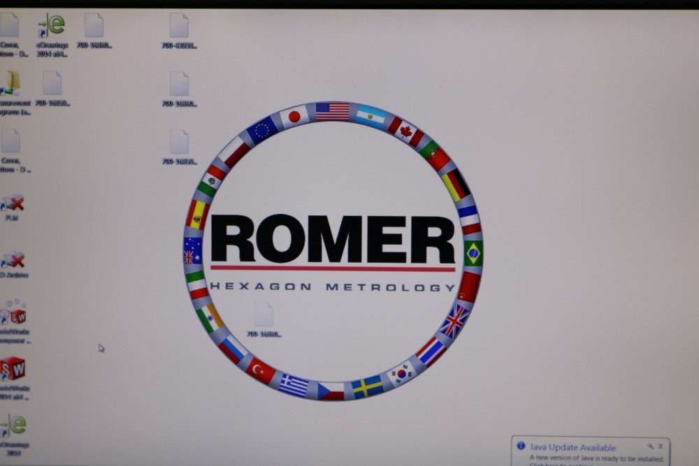 Lot 40 - Romer Absolute Model RA-7530 Hexagon Metrology SIN 7530-1092-UC, Handheld CMM Touch Probes and