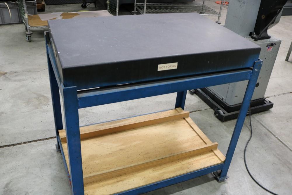 "Standridge Granite Inspection Table on Metal Stand, 2' x 3' x 4"" - Image 3 of 4"