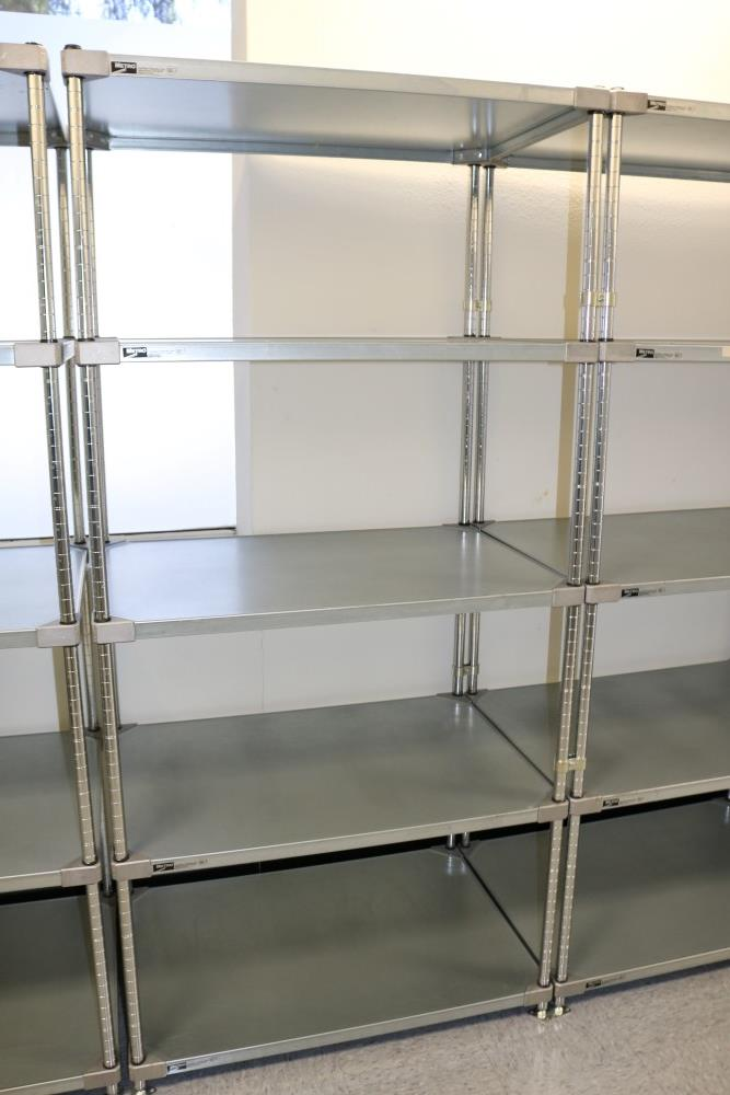 """(3) 24"""" x 36"""" x 75"""" Metro 5 Tier, Heavy Duty Metal Racks (Made in the USA) - Image 2 of 8"""