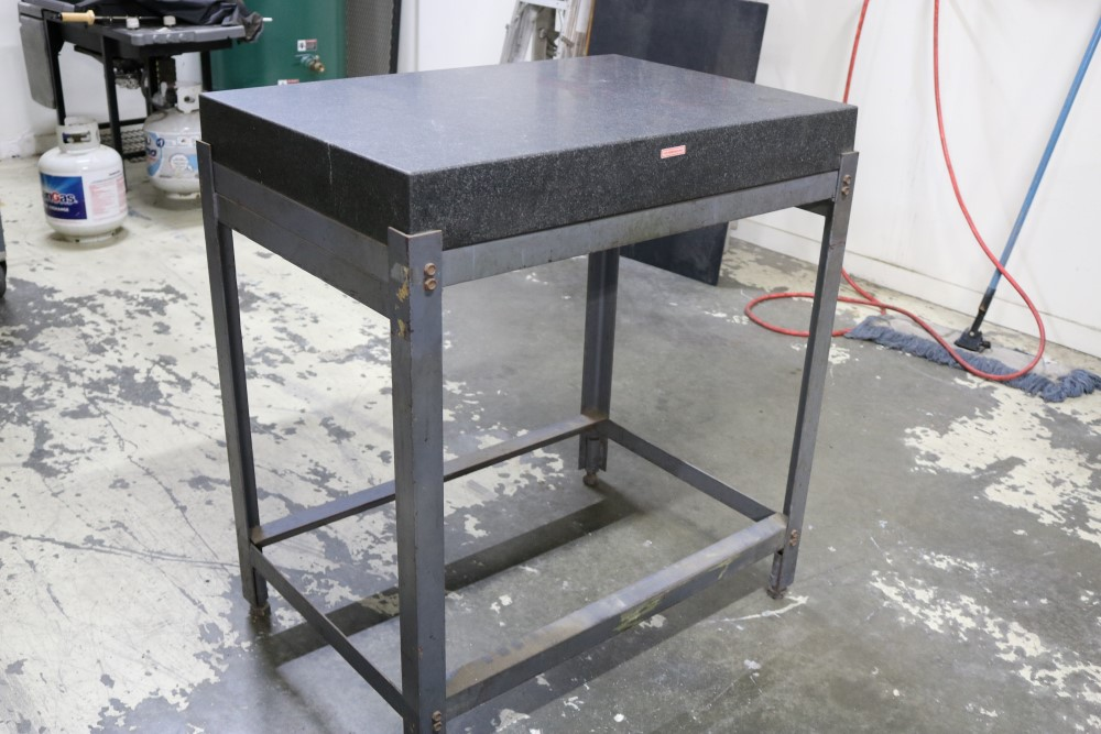 "Black Granite Surface Plate on Metal Stand 2' x 3' x 4"" - Image 5 of 6"