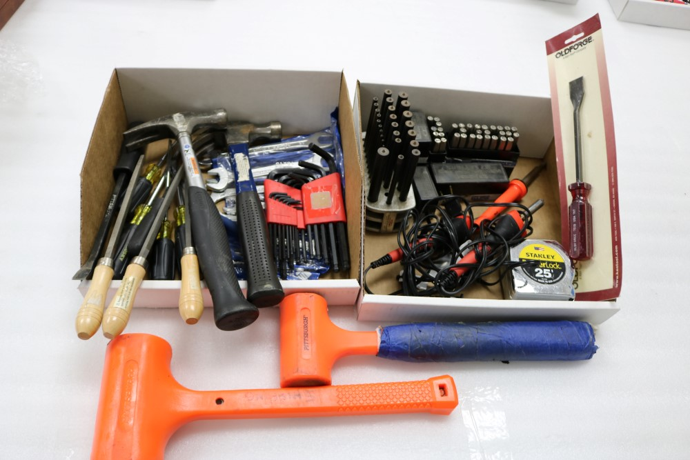 Box of Hammers, Wrenches, Allen Keys, Flat Heads and Screw Drivers. Letter and Number Marking - Image 4 of 5
