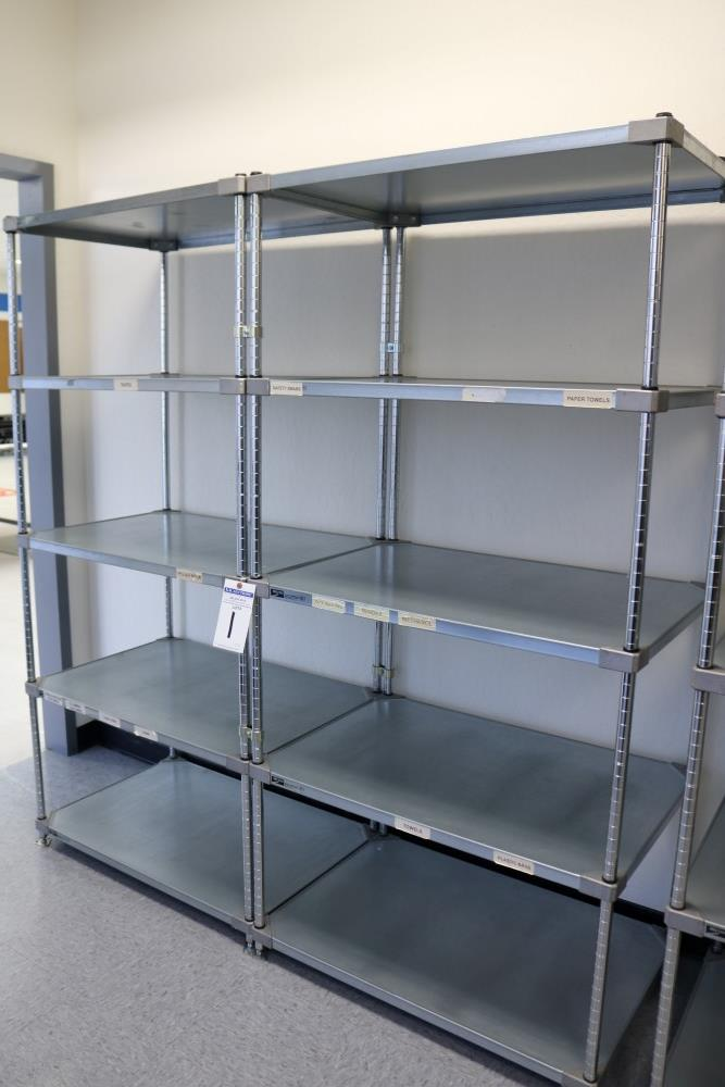 "(2) 24"" x 36"" x 75"" Metro 5 Tier, Heavy Duty Metal Racks (Made in the USA) - Image 5 of 5"
