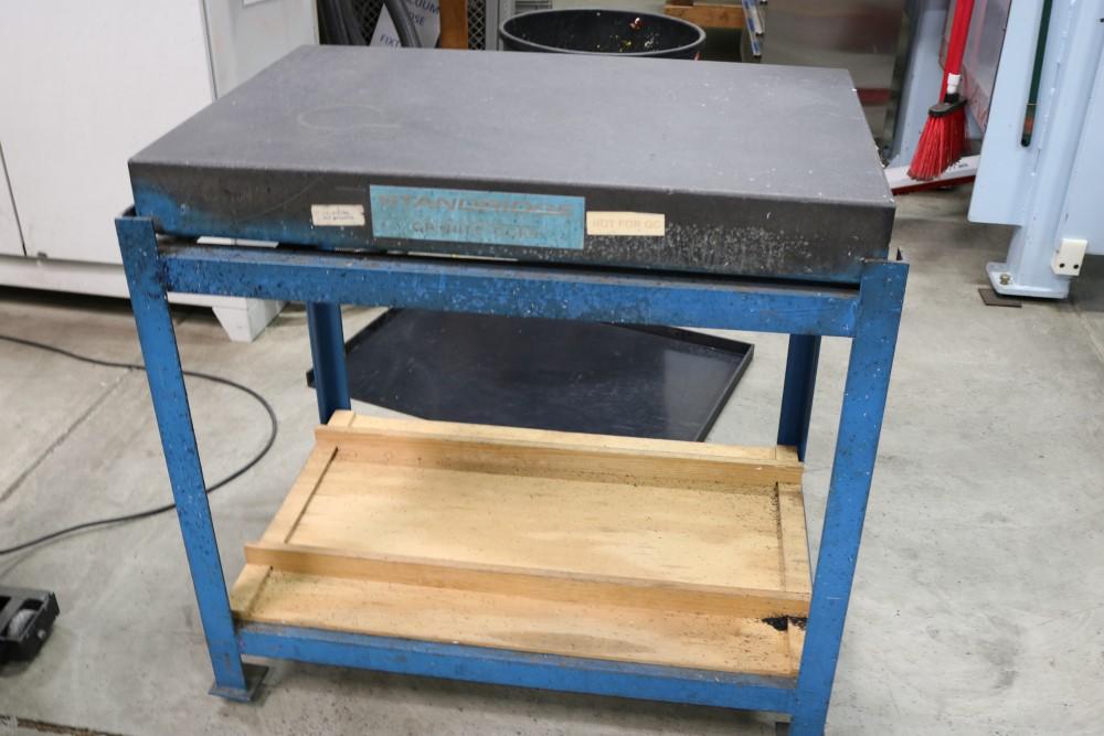 "Standridge Granite Inspection Table on Metal Stand, 2' x 3' x 4"""