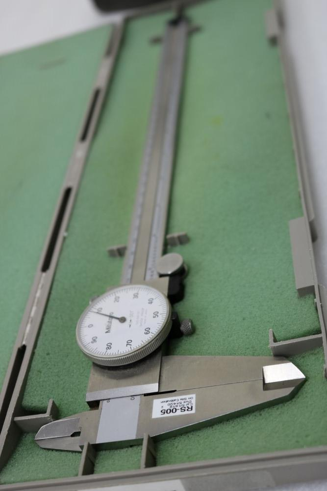 """Mitutoyo 0.001 - 12"""" ID./OD Dial Calipers and Teclock 0.001 - 2"""" Dial Drop Indicator with Black - Image 4 of 8"""
