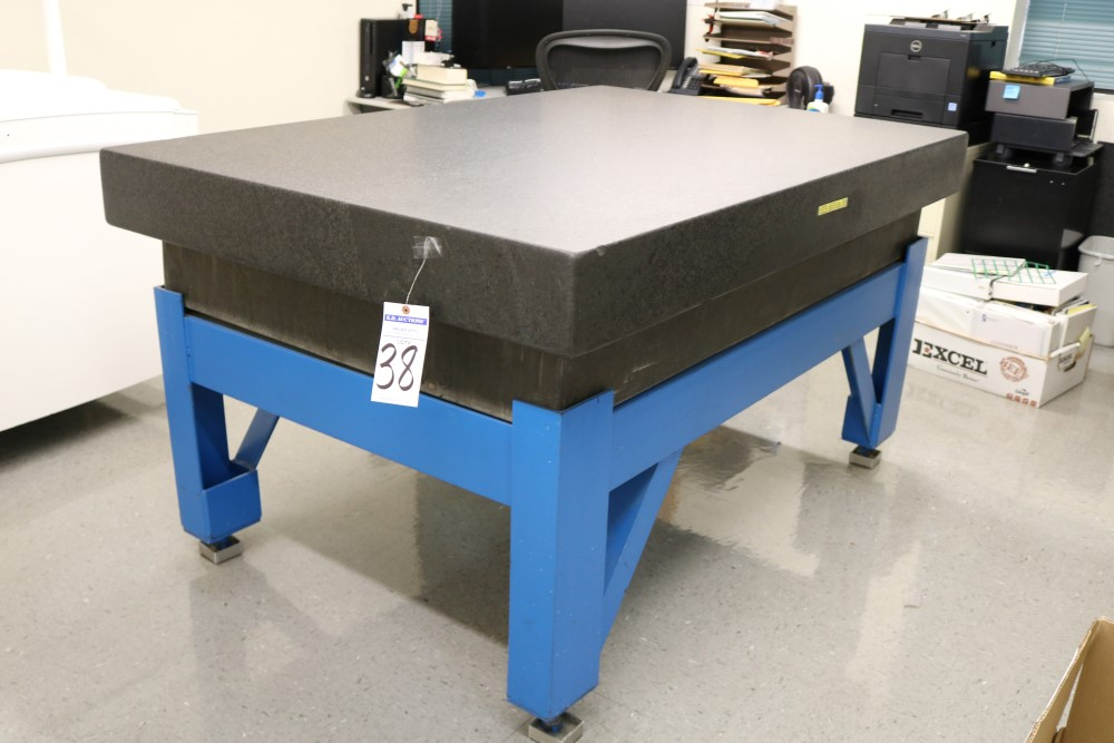 "4' x 6' x 6.5"" Standridge Grade AA Black Granite Surface Plate. Accuracy 0.00015 Repeat - Image 5 of 5"