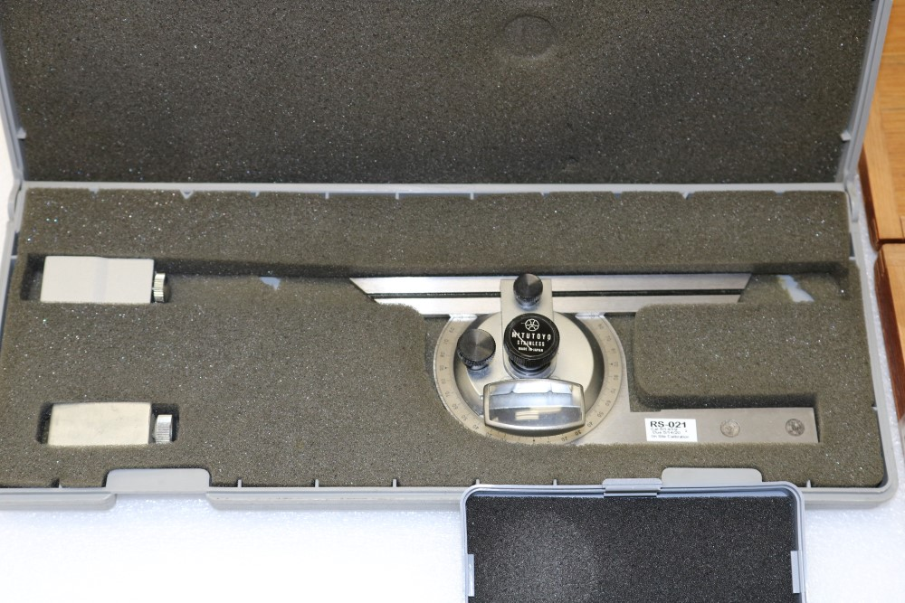 "Mitutoyo Universal Bevel Protractor Set and NSK Depth Gage Micrometer Set 0.001 - 6"". Tesatast - Image 3 of 6"