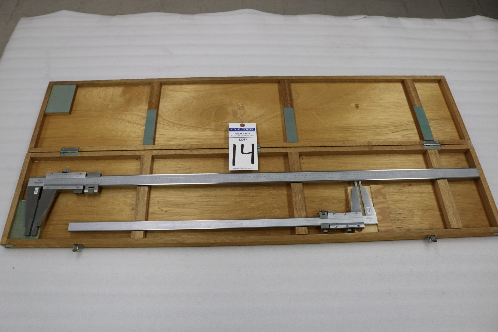 "Mitutoyo 0.001 - 40"" and 0.001 - 24"" ID/OD Vernier Calipers - Image 8 of 8"