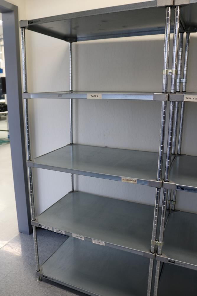 "(2) 24"" x 36"" x 75"" Metro 5 Tier, Heavy Duty Metal Racks (Made in the USA) - Image 3 of 5"