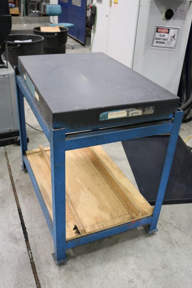"Standridge Granite Inspection Table on Metal Stand, 2' x 3' x 4"" - Image 2 of 4"