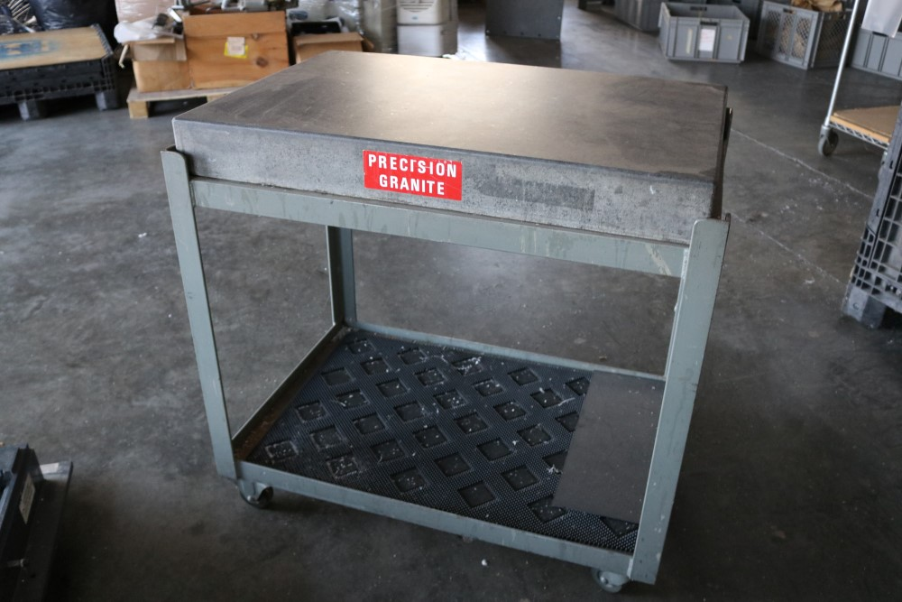 "Precision Granite Inspection Table on Metal Rolling Stand 2' x 3' x 4"" - Image 3 of 4"
