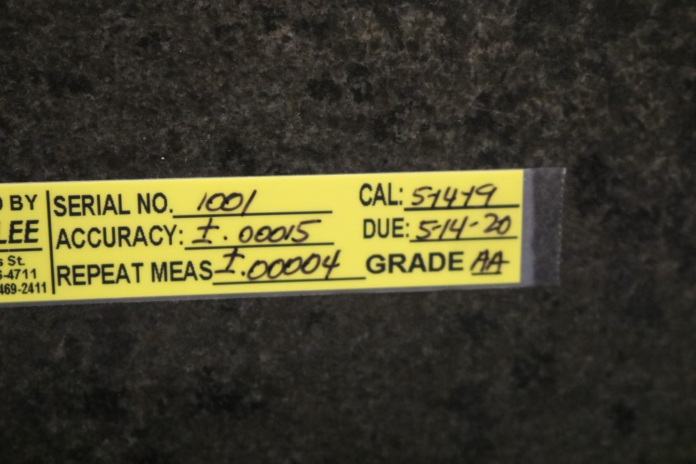 "4' x 6' x 6.5"" Standridge Grade AA Black Granite Surface Plate. Accuracy 0.00015 Repeat - Image 3 of 5"