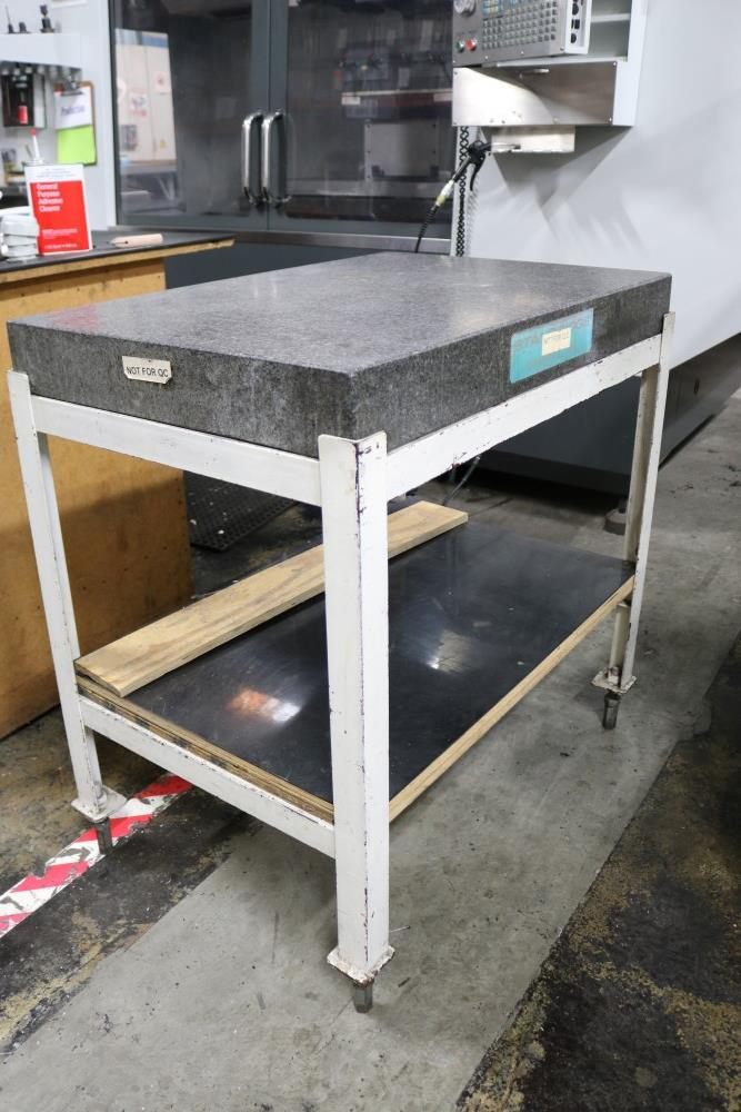 "Lot 32 - Standridge Granite Inspection Table on Stand 2' x 3' x 4"""