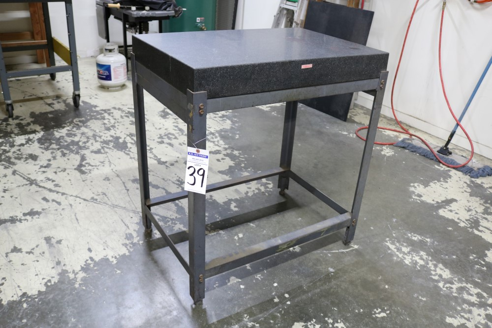 "Black Granite Surface Plate on Metal Stand 2' x 3' x 4"" - Image 6 of 6"