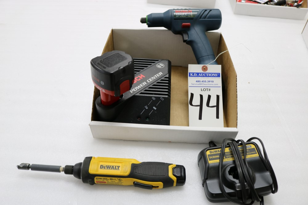 Bosch Exact Z Cordless Drill with Power Station and Two Batteries, Dewalt Gyroscopic Technology Hand - Image 6 of 6