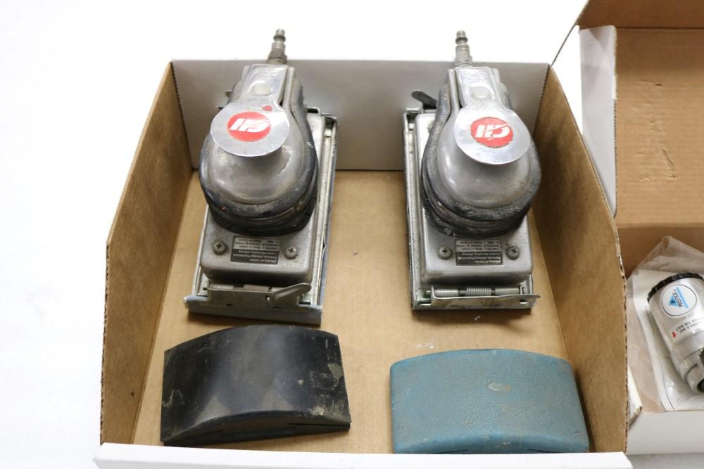 (2) Campbell Hausfeld Jitterbug Pneumatic Air Sander, (2) Hand Sanding Blocks, Prestige Pneumatic - Image 2 of 6