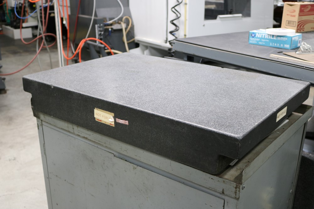 """Lot 33 - Black Granite Inspection Table with Cabinet, 2' x 3' x 5"""""""