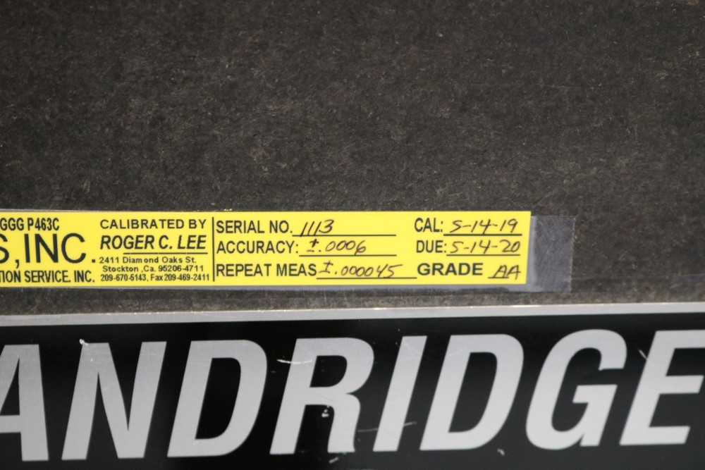 Standridge ISO 9000 Certified Grade AA, Black Granite Inspection Table. Accuracy as of 5/14/20 +/- - Image 3 of 9