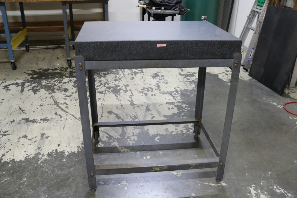 Black Granite Surface Plate on Metal Stand 2' x 3' x 4""