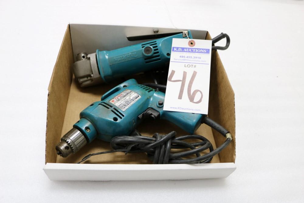 "Makita 10mm Angle Drill, Model DA3000R and Makita 3/8"" Heavy Duty Corded Drill - Image 6 of 6"