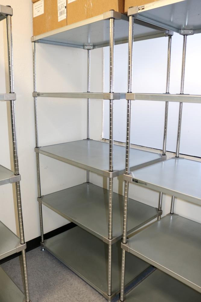 "(2) 24"" x 36"" x 75"" Metro 5 Tier, Heavy Duty Metal Racks (Made in the USA) - Image 2 of 5"