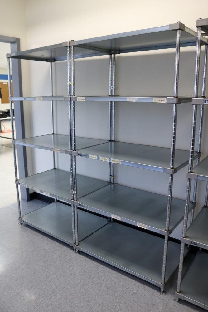 "Lot 1 - (2) 24"" x 36"" x 75"" Metro 5 Tier, Heavy Duty Metal Racks (Made in the USA)"