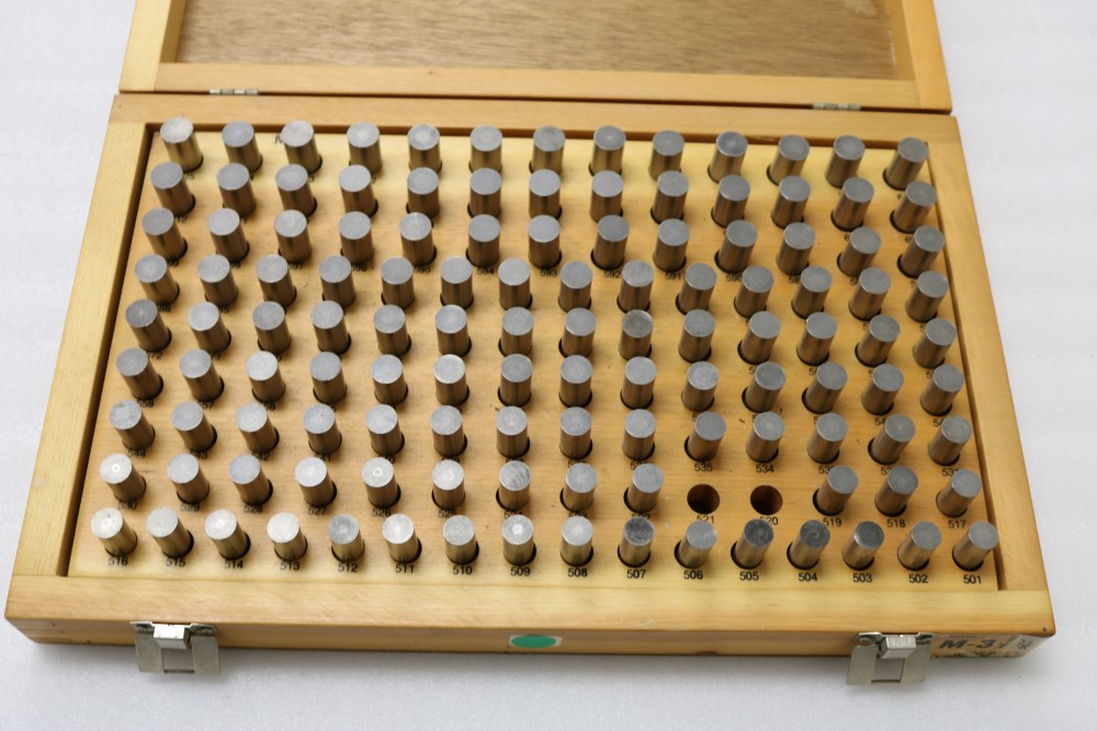 Meyer Pin Gage Set, M3 501-625 Missing 521 and 520 - Image 2 of 3