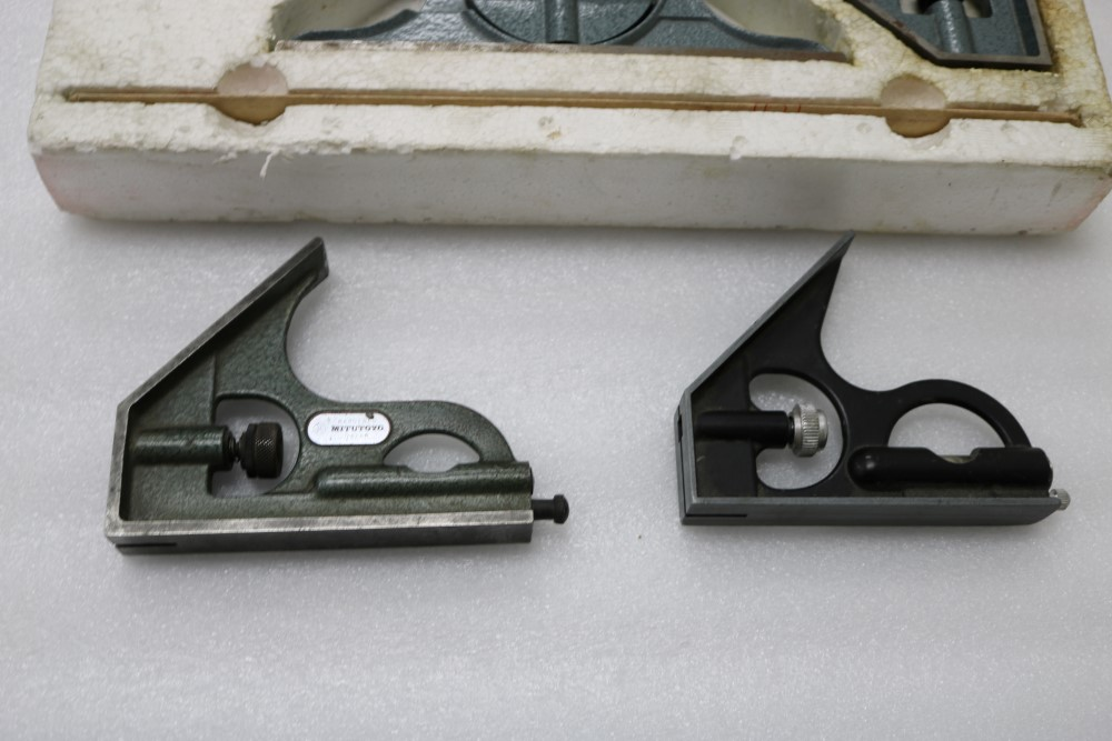 Mitutoyo Combination Sets with Square Head, Center Head, Protractor Head and Blade (Grade B). (2) - Image 5 of 6