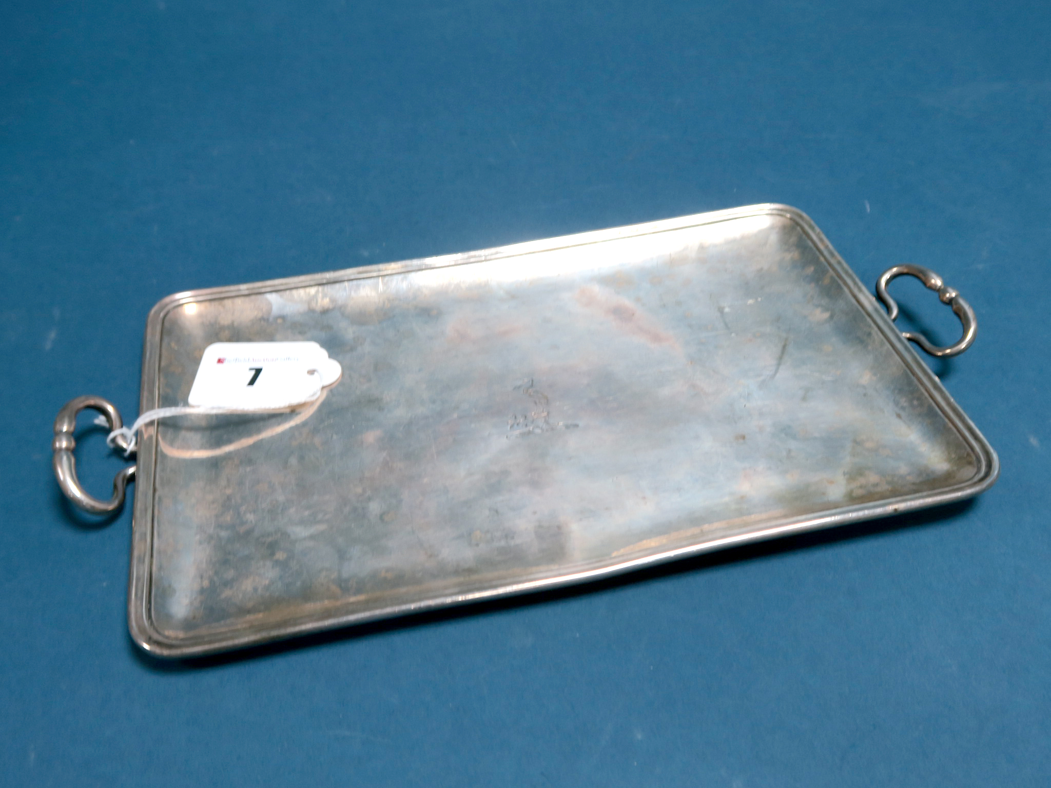 Lot 7 - A Twin Handled Tray, John Wakelin & William Taylor (makers mark struck four times), of plain