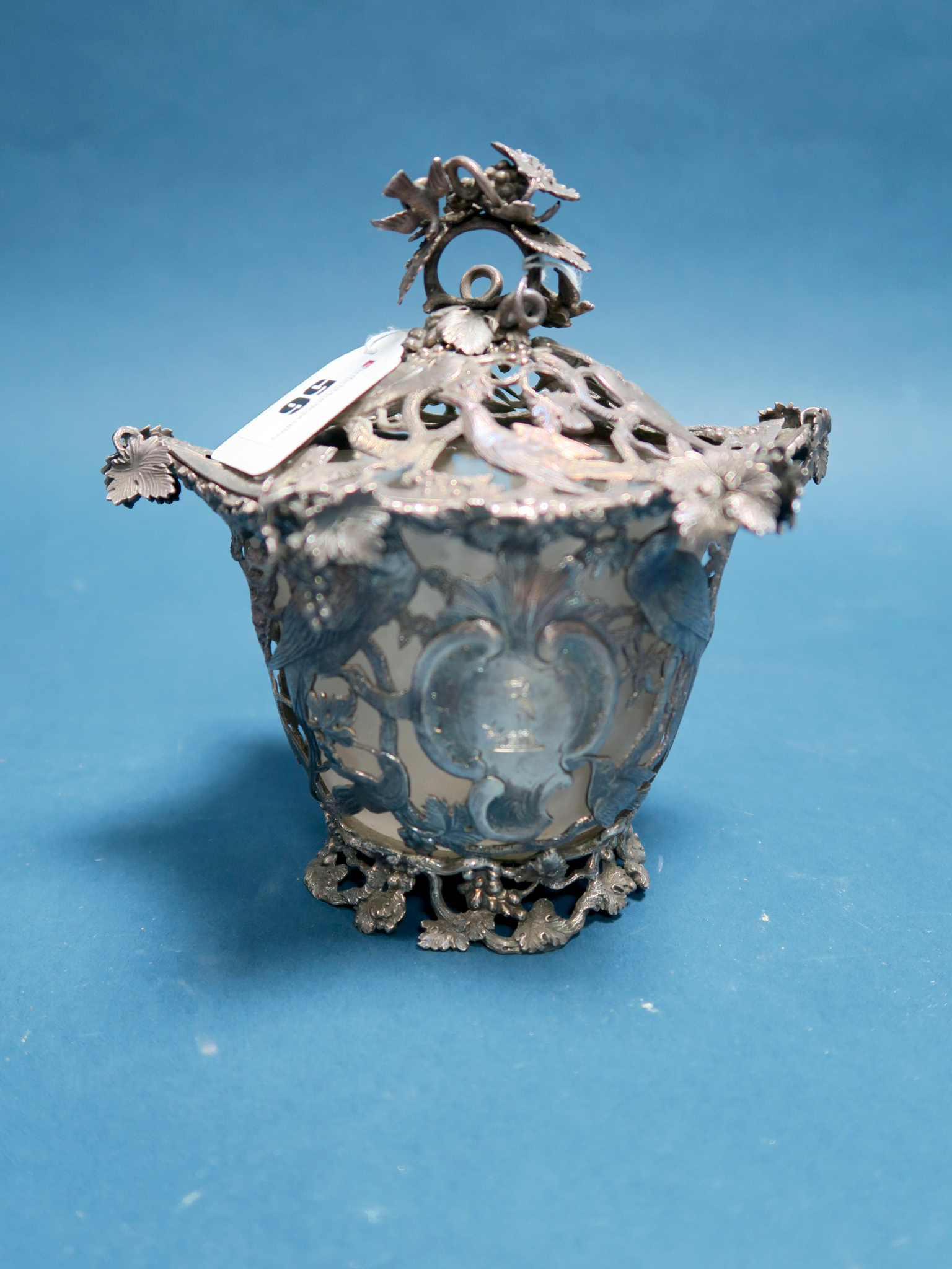 Lot 56 - A Highly Decorative Hallmarked Silver Lidded Pot, Stephen Smith & William Nicholson, of openwork