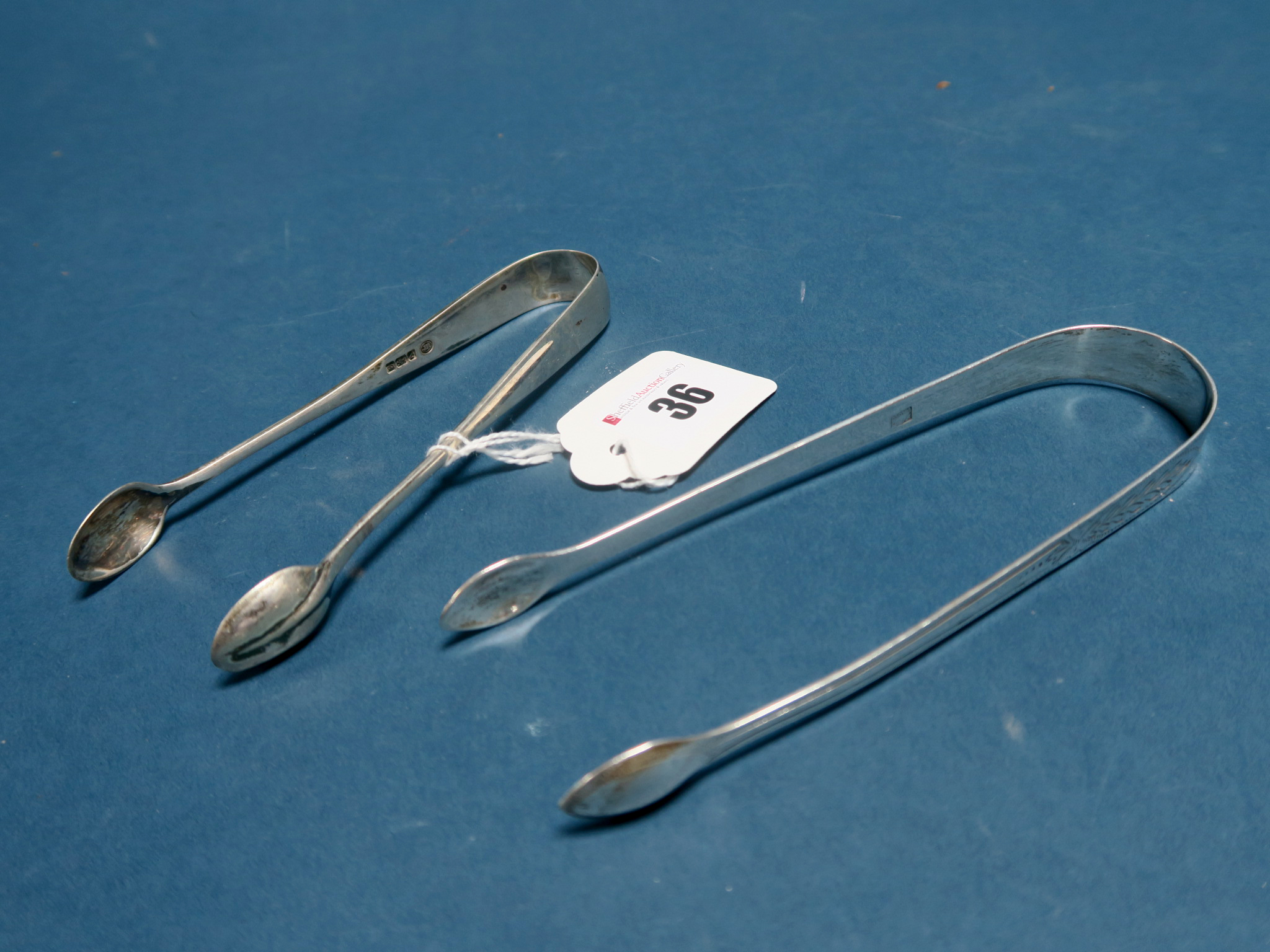 Lot 36 - A Pair of Hallmarked Silver Sugar Tongs, Peter, Ann & William Bateman, London 1802, initialled;