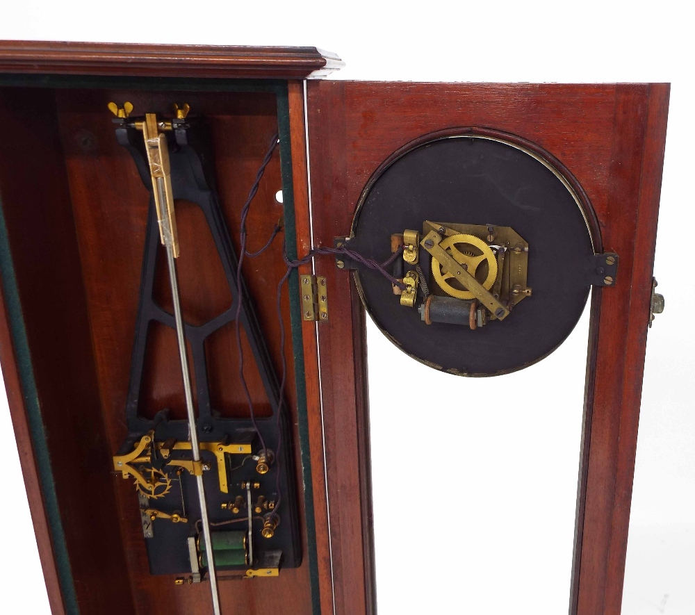 Lot 1184 - Early Synchronome Master Clock, with prototype escapement movement feature above the escapement