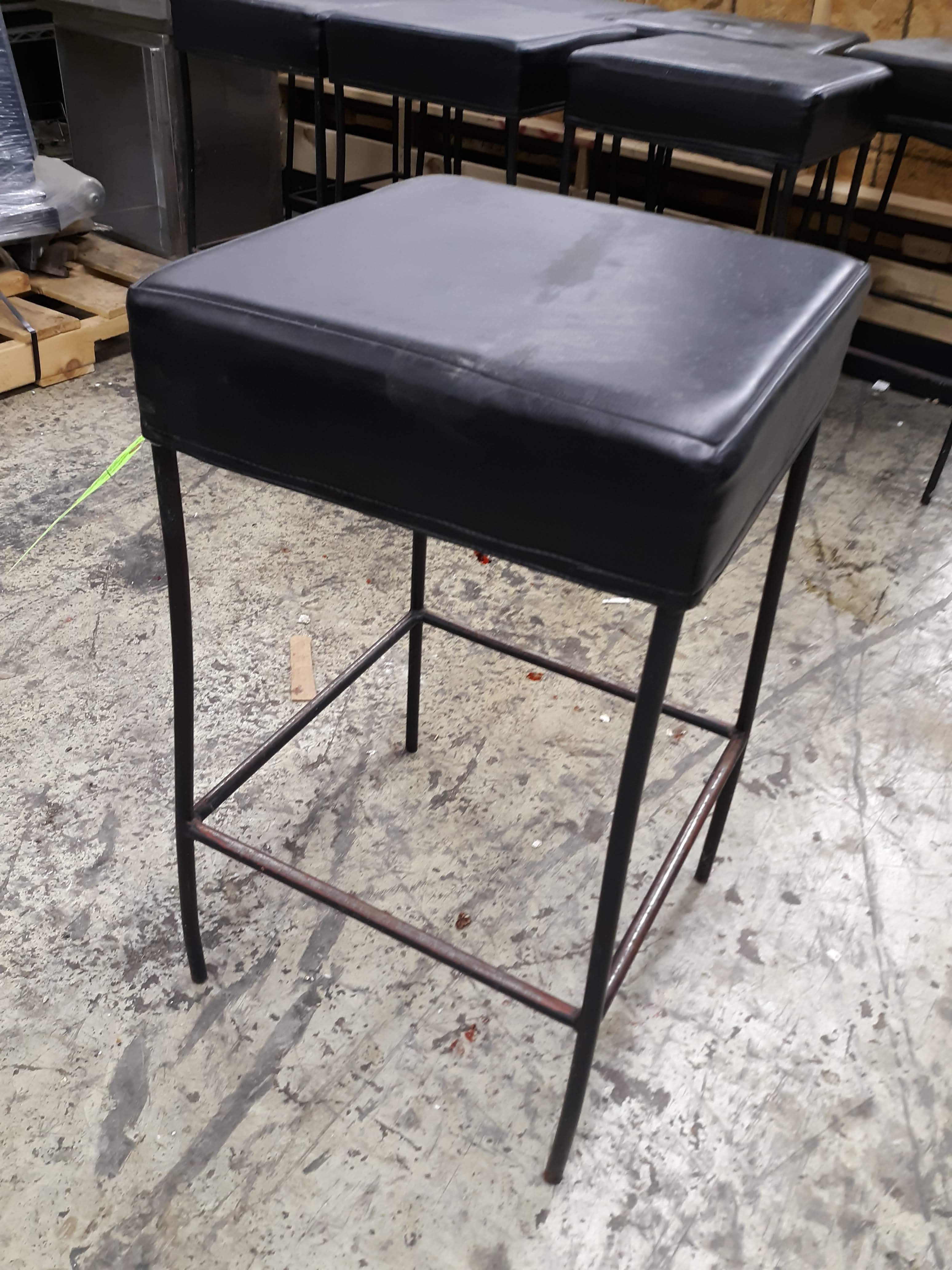 """(8) SQUARE PADDED BAR STOOLS 16"""" X 16"""" X 30"""" TALL (LOCATED AT: 433 COUNCIL DRIVE, FORT WAYNE, IN - Image 2 of 3"""