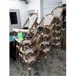 (13) WACO FAUX-WICKER (VINYL) STACKING CHAIRS (LOCATED AT: 433 COUNCIL DRIVE, FORT WAYNE, IN 46825)