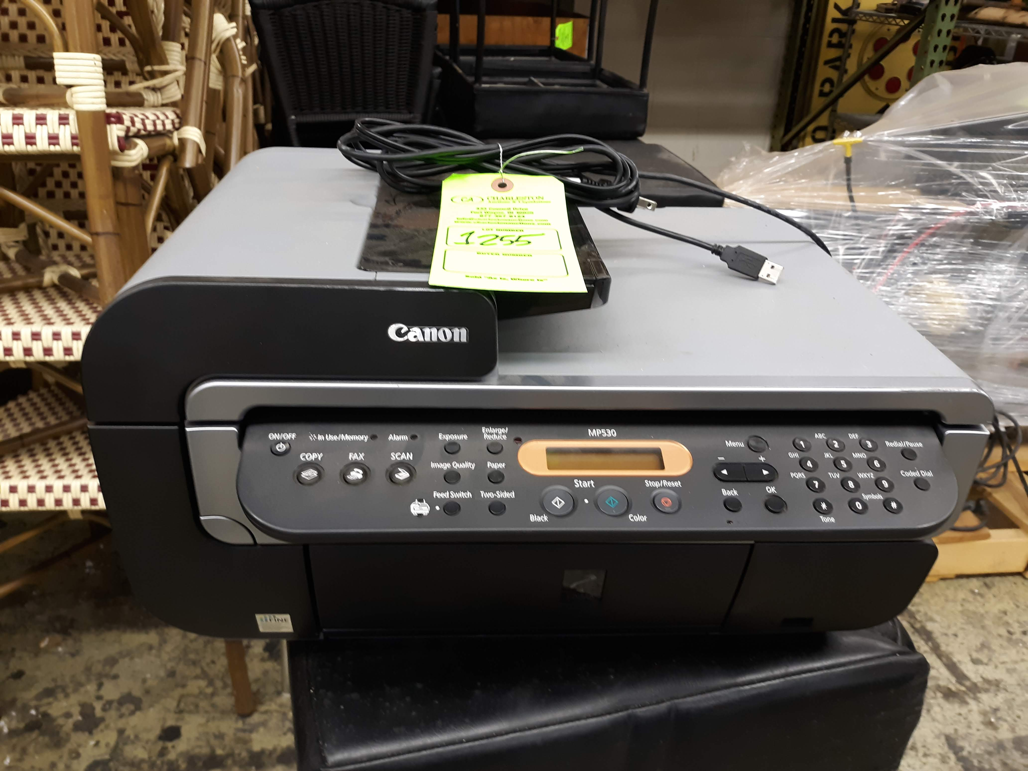 CANON MP530 ALL-IN-ONE PRINTER/FAX MACHINE (LOCATED AT: 433 COUNCIL DRIVE, FORT WAYNE, IN 46825)