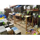 "(2) WOOD FRAME TABLES APPROX. 66"" X 34"" X 43"" TALL (LOCATED AT: 432 COUNCIL DRIVE, FORT WAYNE, IN"