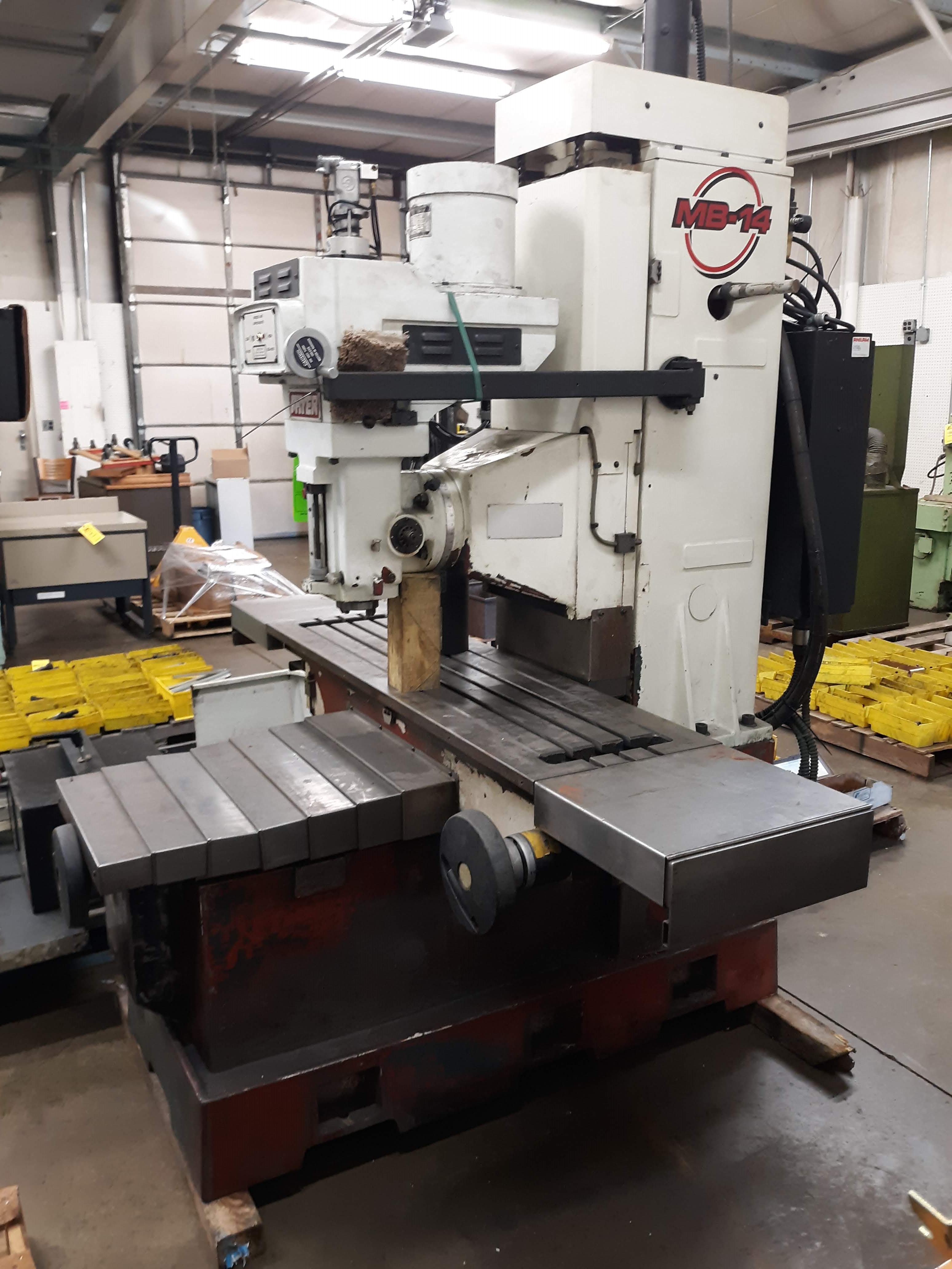 FRYER CNC MILLING MACHINE MODEL-MB-14 S#14247 54 X 16 TABLE ANILAM 3300 MK DRO (LOCATED AT: 432 - Image 4 of 8